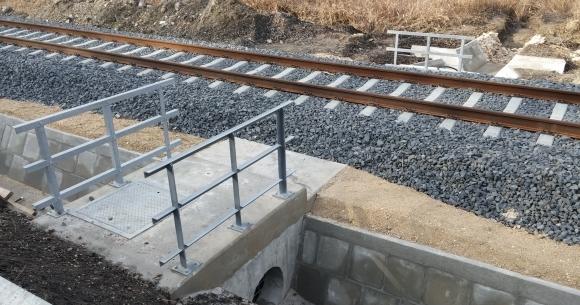 Lepsény-Szántód-Kőröshegy vasúti vonalszakasz vasúti műtárgyak építése (Zamárdi térsége, 2014)