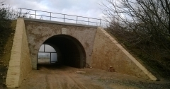 Conservation of brick vault railway bridge (Villány, 2014)