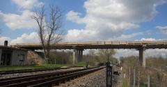 MÁV vasút feletti híd pályalemez építése